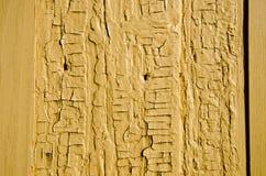 Priorità bassa di legno gialla antica della parete Fotografia Stock Libera da Diritti