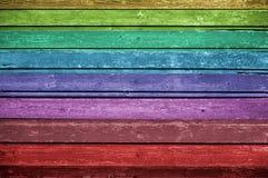 Priorità bassa di legno multicolore Fotografie Stock Libere da Diritti