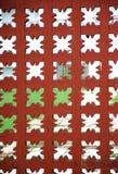 Priorità bassa di legno rossa di griglia Fotografie Stock