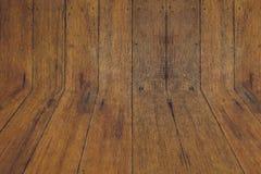Priorità bassa di legno scura di struttura Fotografia Stock