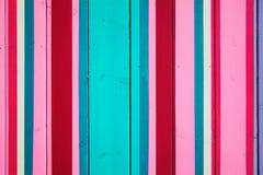 Priorità bassa di legno a strisce della caramella Fotografia Stock Libera da Diritti