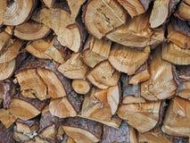 Priorità bassa di legno tagliata Fotografia Stock Libera da Diritti