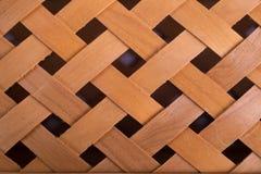 Priorità bassa di legno tessuta fotografia stock libera da diritti