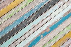Priorità bassa di legno variopinta Fotografie Stock