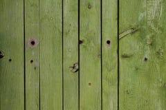 Priorità bassa di legno verde della plancia Immagini Stock Libere da Diritti