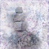Priorità bassa di meditazione di zen Fotografia Stock