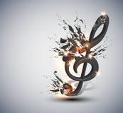 Priorità bassa di melodia della nota di musica illustrazione vettoriale