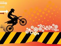 Priorità bassa di motocross Fotografia Stock