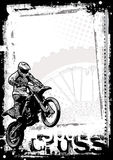 Priorità bassa di Motorcross Immagini Stock