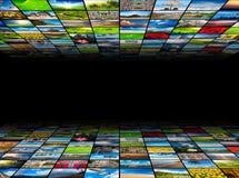 Priorità bassa di multimedia Fotografie Stock Libere da Diritti