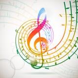 Priorità bassa di musica illustrazione di stock