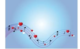 Priorità bassa di musica Immagine Stock