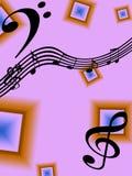 Priorità bassa di musica Immagini Stock Libere da Diritti