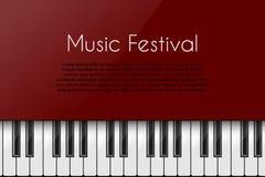 Priorità bassa di musica con il piano illustrazione vettoriale
