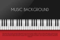 Priorità bassa di musica con il piano illustrazione di stock