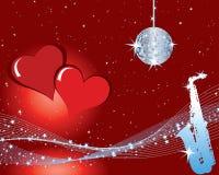 Priorità bassa di musica dei biglietti di S. Valentino Fotografia Stock
