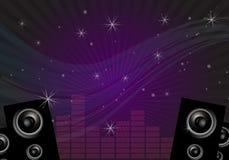 Priorità bassa di musica della discoteca Fotografia Stock