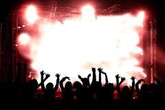Priorità bassa di musica in diretta Fotografia Stock