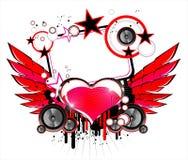 Priorità bassa di musica e di amore Immagini Stock Libere da Diritti
