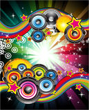 Priorità bassa di musica per le alette di filatoio della discoteca Immagini Stock Libere da Diritti