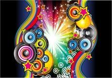 Priorità bassa di musica per le alette di filatoio della discoteca Fotografia Stock