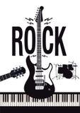 Priorità bassa di musica rock illustrazione di stock