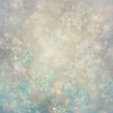 Priorità bassa di natale Cielo, fiocchi di neve e stelle di inverno Immagini Stock