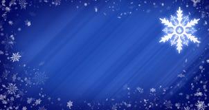 Priorità bassa di natale con i fiocchi di neve Fotografie Stock