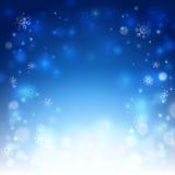 Priorità bassa di natale con i fiocchi di neve illustrazione di stock