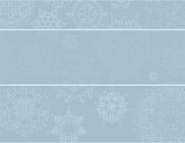 Priorità bassa di natale con i fiocchi di neve Fotografia Stock
