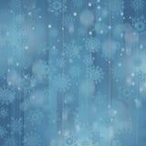 Priorità bassa di natale con i fiocchi di neve Immagini Stock