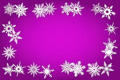 Priorità bassa di natale con i fiocchi di neve royalty illustrazione gratis