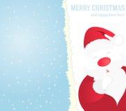 Priorità bassa di natale con il Babbo Natale Fotografie Stock Libere da Diritti