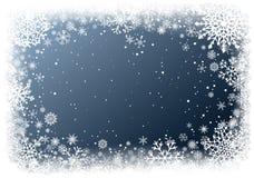 Priorità bassa di natale con il blocco per grafici dei fiocchi di neve illustrazione di stock