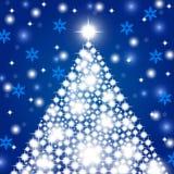Priorità bassa di natale con l'albero di Natale Fotografie Stock Libere da Diritti