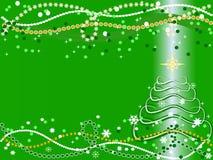 Priorità bassa di natale con l'albero di Natale Fotografia Stock