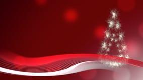 Priorità bassa di natale con l'albero di Natale video d archivio