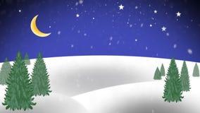 Priorità bassa di natale con l'albero di Natale archivi video