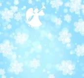 Priorità bassa di natale con l'angelo illustrazione vettoriale