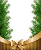 Priorità bassa di natale con le filiali dell'albero di Natale Immagine Stock