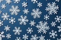 Priorità bassa di natale dei fiocchi di neve Fotografie Stock