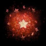 Priorità bassa di natale delle stelle strutturate Immagini Stock Libere da Diritti