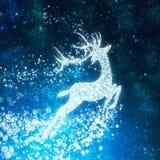Priorità bassa di natale, disegno della renna Fotografia Stock Libera da Diritti