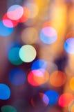 Priorità bassa di natale Fondo astratto festivo con le luci e le stelle defocused del bokeh immagini stock