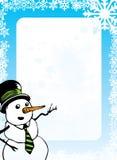 Priorità bassa di natale - pupazzo di neve Fotografie Stock Libere da Diritti