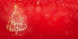 Priorità bassa di natale Testo dell'iscrizione di festa del buon anno illustrazione di stock
