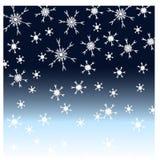 Priorità bassa di nevicata Fotografia Stock Libera da Diritti