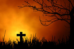 Priorità bassa di notte di Halloween Fotografia Stock Libera da Diritti