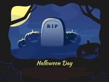 Priorità bassa di notte di Halloween Fotografia Stock