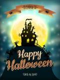 Priorità bassa di notte di Halloween ENV 10 Fotografie Stock